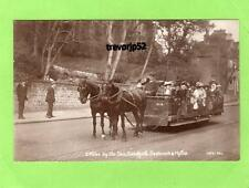 Horse drawn open Tram Toastrack Sandgate Seabrook Hythe unused RP pc Ref A796