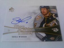 Shea Weber 2011-12 SP Authentic Sign of the Times Auto Predators