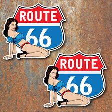 Route 66 Pin Up Stickers Voiture Van Camper Beetle Hotrod rétro vintage decal