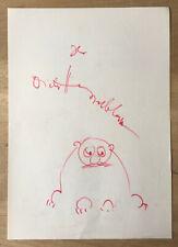 1976 DIETER HASSELBLATT (1926-97) Schriftsteller / Hörspiel hs / sign. Zeichnung