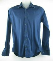 ZARA MAN Slim Fit Shirt Size Medium Long Sleeve Blue