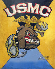 USMC Retro Style Print  military style Poster decor vintage looking art Marines