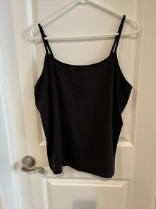 Lane Bryant Women's size 18/20 Black Cami Top V-neck Adjustable Straps