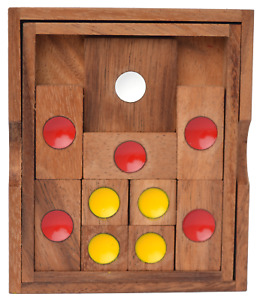 Khun Pan medium, Escape Knobelspiel, Knobelspiel Holz, Knobelholz Schiebespiel