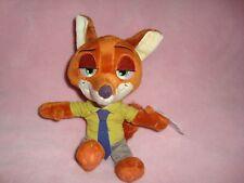 "Disney Zootopia Fox Nick Wilde Tomy Small Plush and Beans 7"" tall W/Tags"