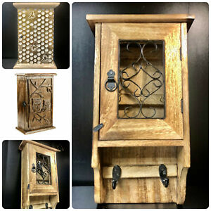 Wall hanging wooden key cabinet/holder