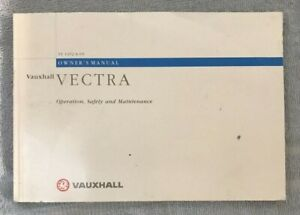 VAUXHALL VECTRA HANDBOOK, TS 1452-A-99 from 1999,  USED