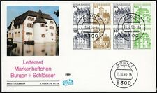 BRD Letterset Markenheftchen Block Burgen + Schlösser Blancobrief