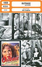 FICHE CINEMA FILM USA OUTRAGE Mala Powers Tod Andrews Réalisatrice Ida Lupino