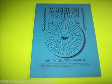 Wheel Of Fortune By Gametek 1989 Orig Video Arcade Game Service Repair Manual