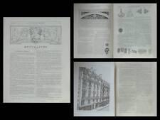 LA CONSTRUCTION MODERNE n°34 1905  RENE BINET, PARIS 41 RUE DAMREMONT, GOUJON