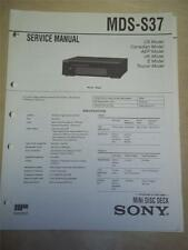 Sony Service Manual~MDS-S37 MiniDisc Deck~Original~Repair
