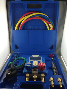 REFRIGERATION AIR CONDITIONER  DIGITAL MANIFOLD GAUGE  MEASURE 44 REFRIGERANTS