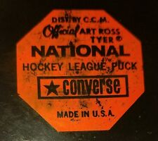 1968-69 NHL Official Game Puck PHILA FLYERS Converse Rubber Crest CCM Art Ross