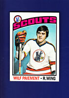 Wilf Paiement 1976-77 TOPPS Hockey #37 (EXMT+) Kansas City Scouts