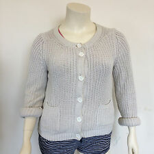 Esprit Ladies Casual Thick Knitted Stretchy Light Cream Button Cardigan Size XL