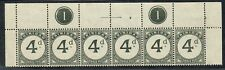 Trinidad 1923 SG D21 4d Superb Top Row With Plate 1 Strip Unmounted