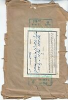 Wrapper Germany Revenue 1940 WWII War Era Stamps From Printers Office Worn 1RM