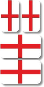 Vinyl sticker/decal Extra small 45mm & 35mm St George England flags - group of 4
