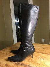 "Donald J Pliner $298 Italian Black Leather Knee Boots ""Rodny"" Womens Size 7.5 M"
