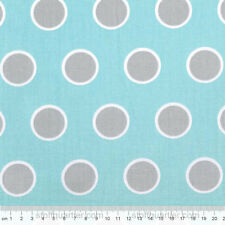 Punkte türkis grau Stoff Baumwolle gepunktet Patchwork Moda Mixologie