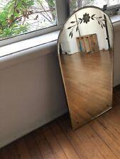 Mid Century Etched Mirror
