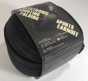 AWESAFE Electronic Shooting Earmuff Noise Reduction Safety w/ Storage Case PINK