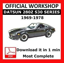 Official Workshop Manual Service Repair Datsun 280z S30 Series 1969 - 1978