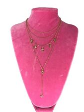 Gold Chain Stars Crystal Rhinestone Choker Necklace Crystal Jewelry