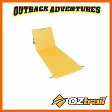 OZTRAIL IPANEMA BEACH MAT CHAIR - YELLOW - FOLDING BACK REST LOW SAND CHAIR
