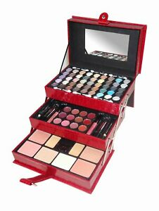 CC2012 65Color 3 Tray Eye Shadow Professional Leather Case Make-Up Kit Gift Set