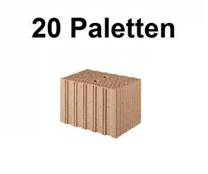 20 Pal. Planziegel POROTON-T10 (36,5 cm) 8/0,65 Ziegelstein Planstein Mauerwerk