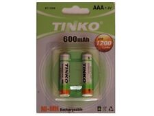 2x AAA 600mAh 1.2v RECHARGEABLE NI-MH BATTERIES FOR CORDLESS PHONE/SOLAR LIGHTS