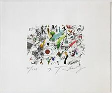 Jean Tinguely Hand Signed Numbered Ltd. Ed. Color Lithograph 1981 Unframed