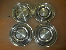 "1958 58 Pontiac Hubcap Rim Wheel Cover Hub Cap 14"" OEM USED SET 4"