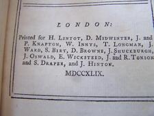 1749 The Lucubrations of Isaac Bickerstaff Vol. III : London