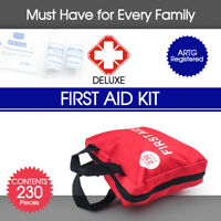 230 Pieces First Aid Kit Survival Sticker Bag Family Camping ARTG Registered AU