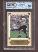 Drew Brees RC 2001 Ultra Preview New Orleans Saints Rookie GEM MINT 10