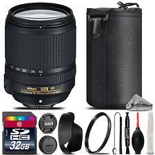 Nikon AF-S DX NIKKOR 18-140mm f/3.5 VR Lens + Lens Hood + U.V Filter - 32GB Kit
