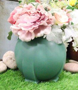 Ebros Teco Art Pottery by Frank Lloyd Wright Contemporary Satin Green Orb Vase