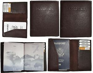 Lot of 5 New Leather passport cover, Brown Unbranded international passport case