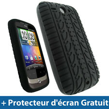 Noir Pneu Silicone Etui pour HTC Wildfire G8 Android Portable Housse Coque Case