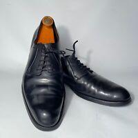 Giorgio Armani Men's Leather Black Shoes 11 US M Used Classy perfection Italy