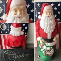 "Vtg EMPIRE 46"" Santa Claus Toy Bag Blow Mold Light Christmas Local Pickup Only"