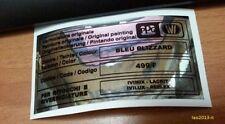 Lancia thema adesivo colore ppg bleu blizzard 499/F