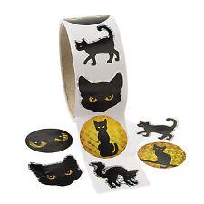 100 Halloween Gato Negro Prisma pegatinas casa encantada Diversión