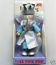 BUDKINS WOODEN PLAY FIGURES BY LE TOY VAN 10cm - LILY THE SNOW QUEEN - BRAND NEW