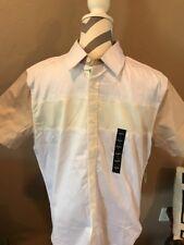 Mens Sean John Short Sleeve Button Shirt 3XL NWT White Cream Tan Color Block