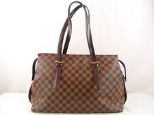 US seller Authentic LOUIS VUITTON DAMIER CHELSEA SHOULDER BAG PURSE LV Good