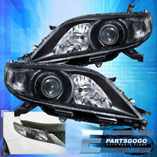 For 11-17 Toyota Sienna Halogen Replacement Headlights Lamps Pair Black Clear